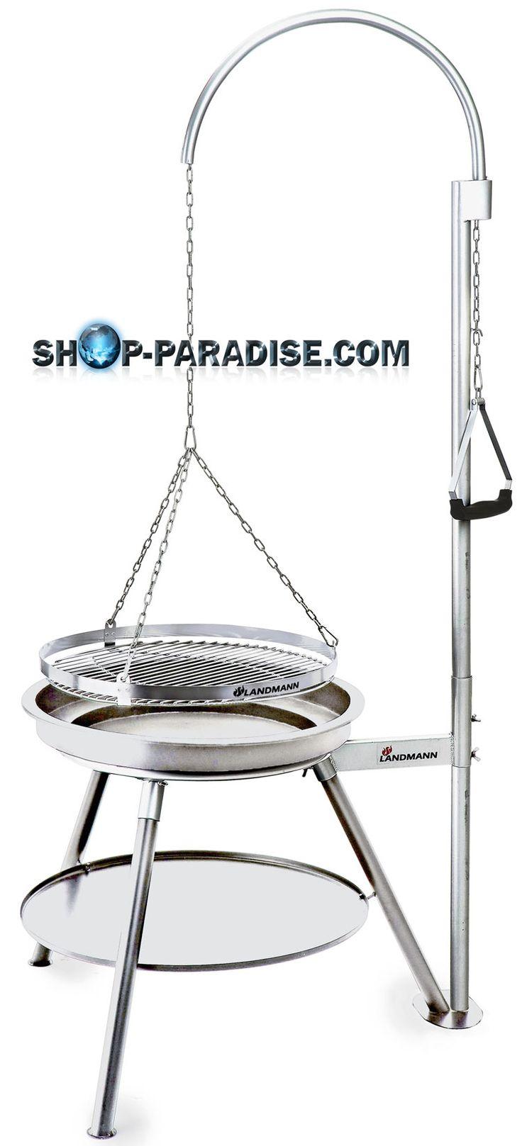 SHOP-PARADISE.COM:  Holzkohlegrill Inox Edelstahl, Schwenkgrill Geos 249,99 €