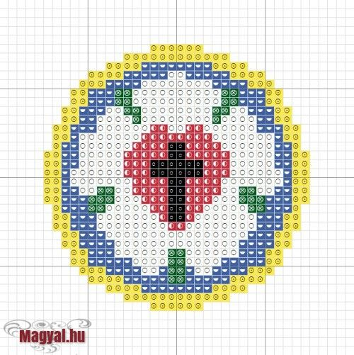Luther Rose cross stitch. This looks like Perler beads to me!