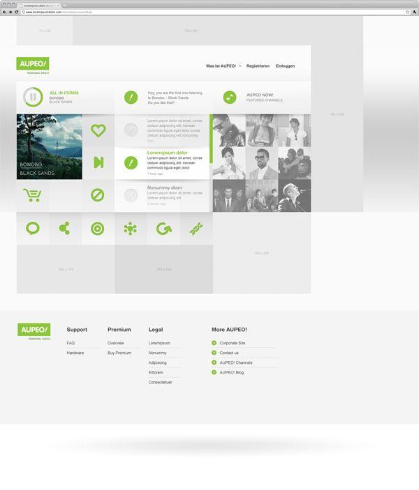 Branding, Interaction Design / AUPEO! Personal Radio by Rene BiederWebdesign, Interaction Design,  Website, Design Ideas, Interactive Design, Personalized Radios, Amazing Web, Rene Biederer, Web Design Inspiration