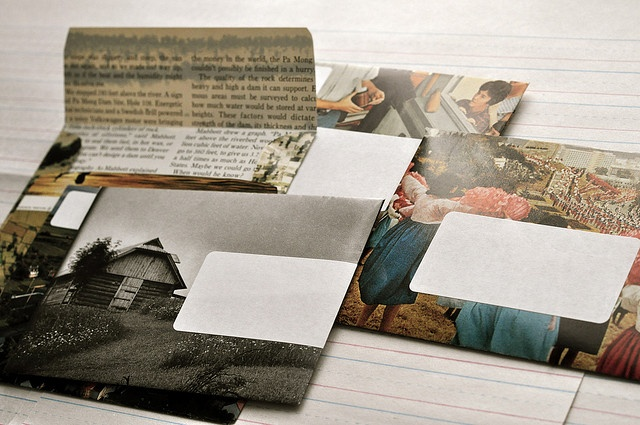 Envelopes from National Geographic pages by paper and type, via Flickr.