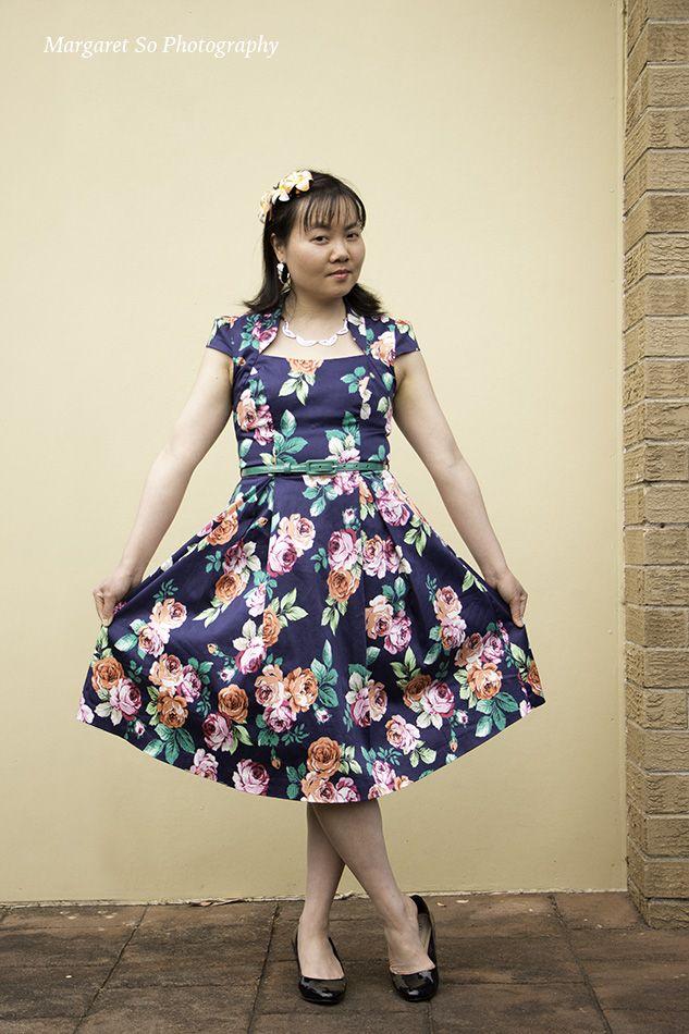 Melbourne Cup dress Model: Teresa So