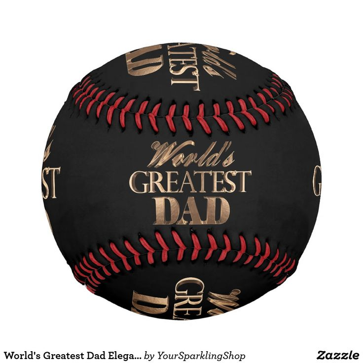 World's Greatest Dad Elegant Black Gold Typography