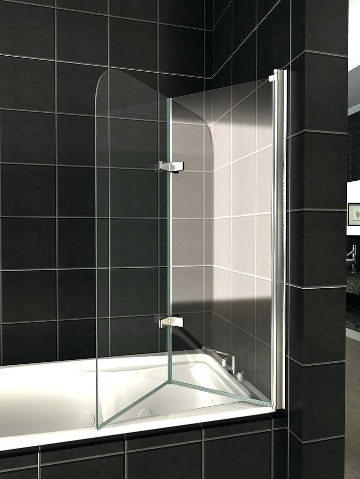 Shower Details About 180a Pivot Glass Over Bath 2 Fold Folding ...