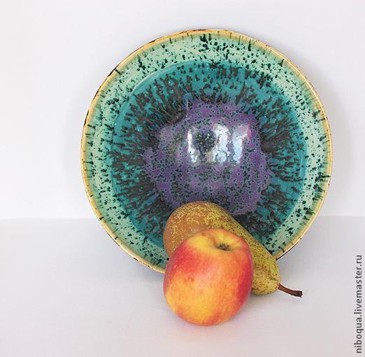 Купить Блюдо керамическое Зеркальные нейроны - тарелка, бдюдо, керамическая тарелка, Керамическое блюдо
