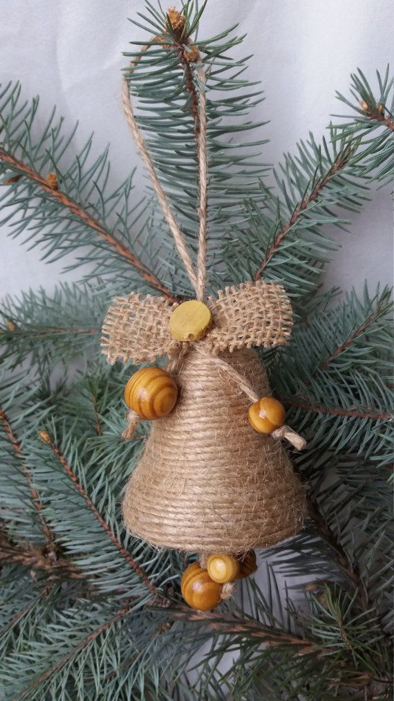 Christmas bell Christmas ornament Christmas от RusticShopUkraine