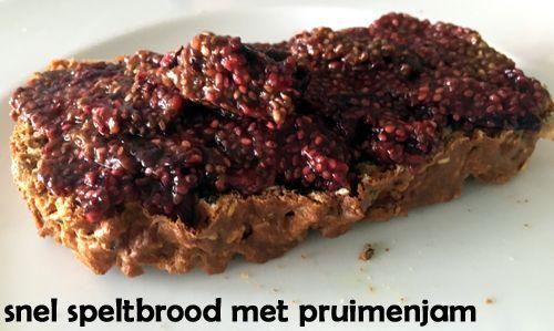 Snel #speltbrood met #pruimenjam.