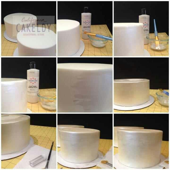 How to get a sheen look on Cakes without airbrush...