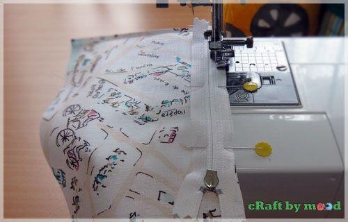 menjahit Dompet resleting | craftbymood.com