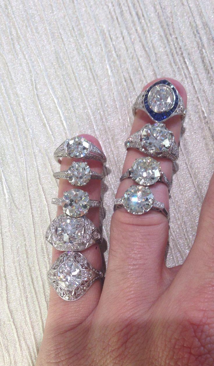 Edwardian Amp Art Deco Platinum Engagement Rings Featuring 4