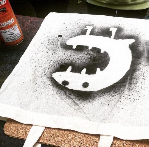 Graffiti sprayen schablonen schneiden...