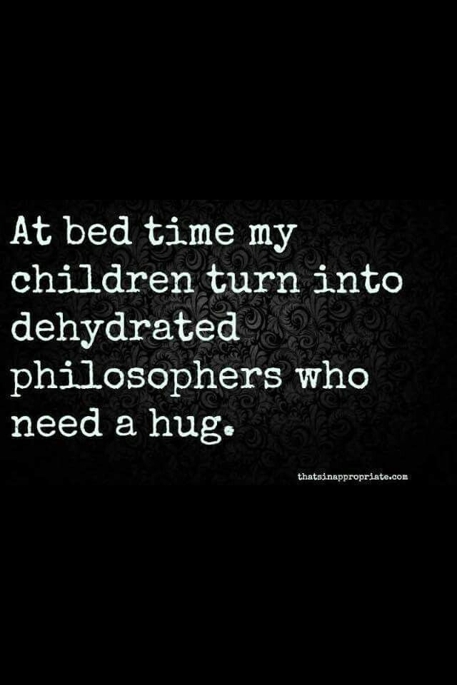 I was this to my parents - totally parched but only at bedtime and then of course would have to pee!!!