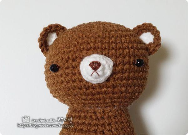 #코바늘인형 #곰탱이 #crochet #bear #amigurumi