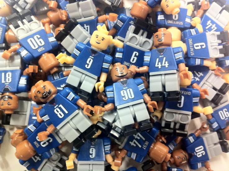 Introducing the Detroit Lions Minifigure (OYO) Lego