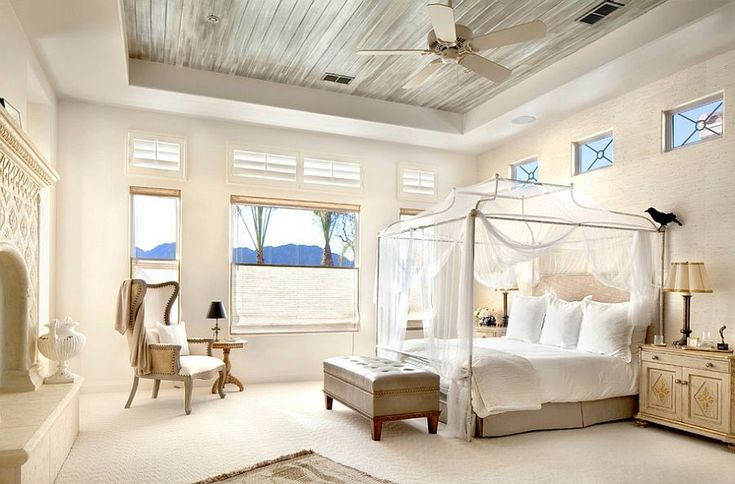 Итальянский стиль в интерьере: гармония и теплота Тосканы для вашего дома http://happymodern.ru/italyanskij-stil-v-interere/ Светлая спальня и кровать с балдахином