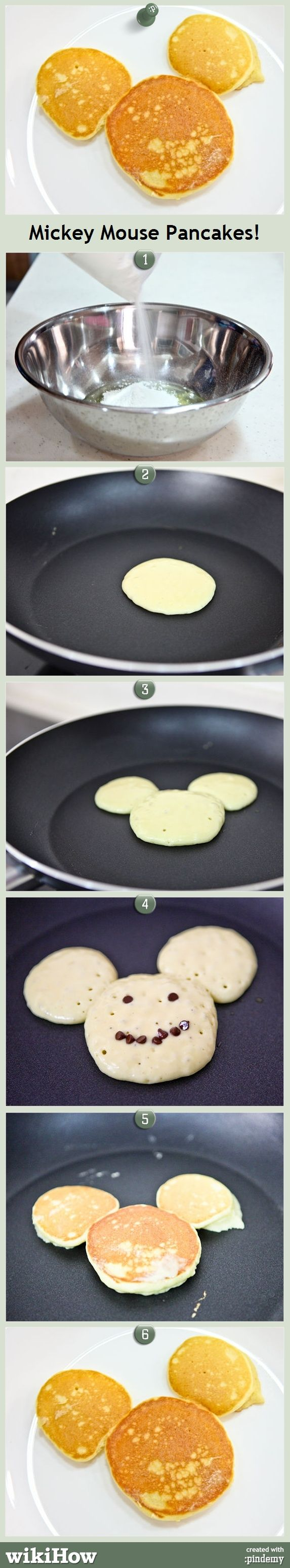 Mickey Mouse Pancakes!