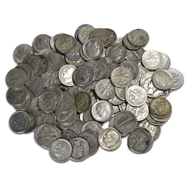 Free Shipping 90/% Silver Circulated Dimes 1946-1964 Silver Roosevelt Dime
