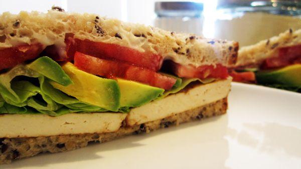 Quick & Easy Tofu Sandwich | Vegangela