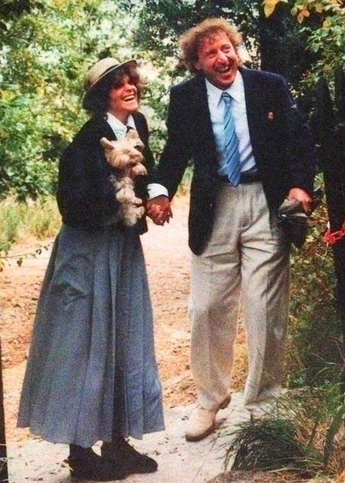Gene Wilder & Gilda Radner on their wedding day in the south of France.