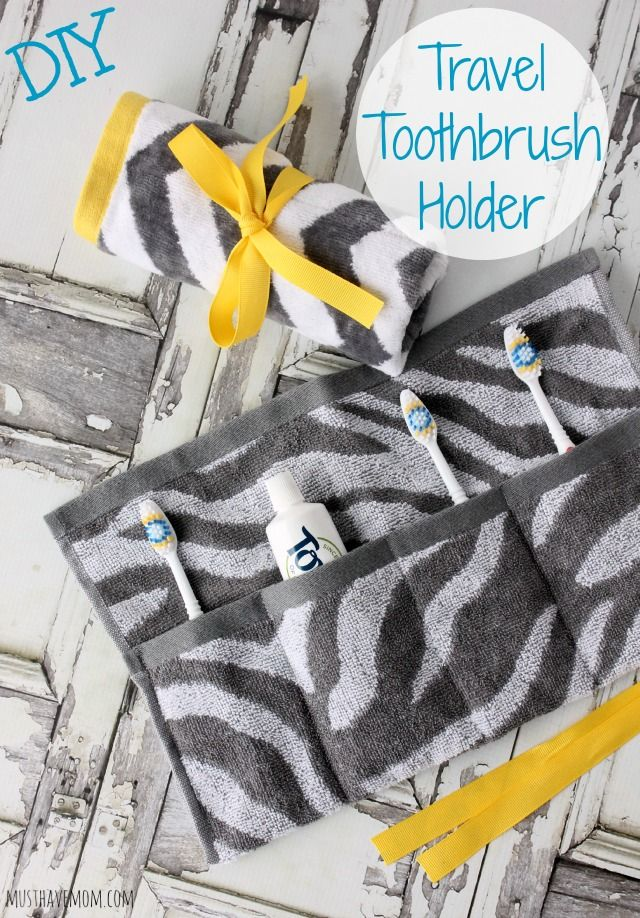 DIY Travel Toothbrush Holder You Can Wash & Reuse! - #NaturalGoodness #ad