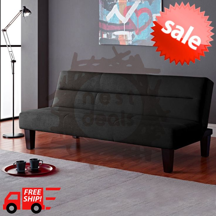 Modern Futon Sofa Bed Convertible Couch Living Room Loveseat Dorm Sleeper Lounge #Kebo