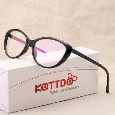 96f8a03af2 KOTTDO Fashion Women Cat Eye Eyeglasses Frame Men Optical Glasse Frame  Retro Eyeglasses Computer Glasses Transparent