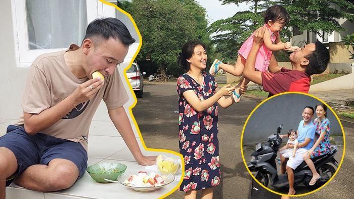 Keluarga Ruben Onsu - Potret Kesederhanaan Sarwendah Sekeluarga Muterin Komplek Naik Motor