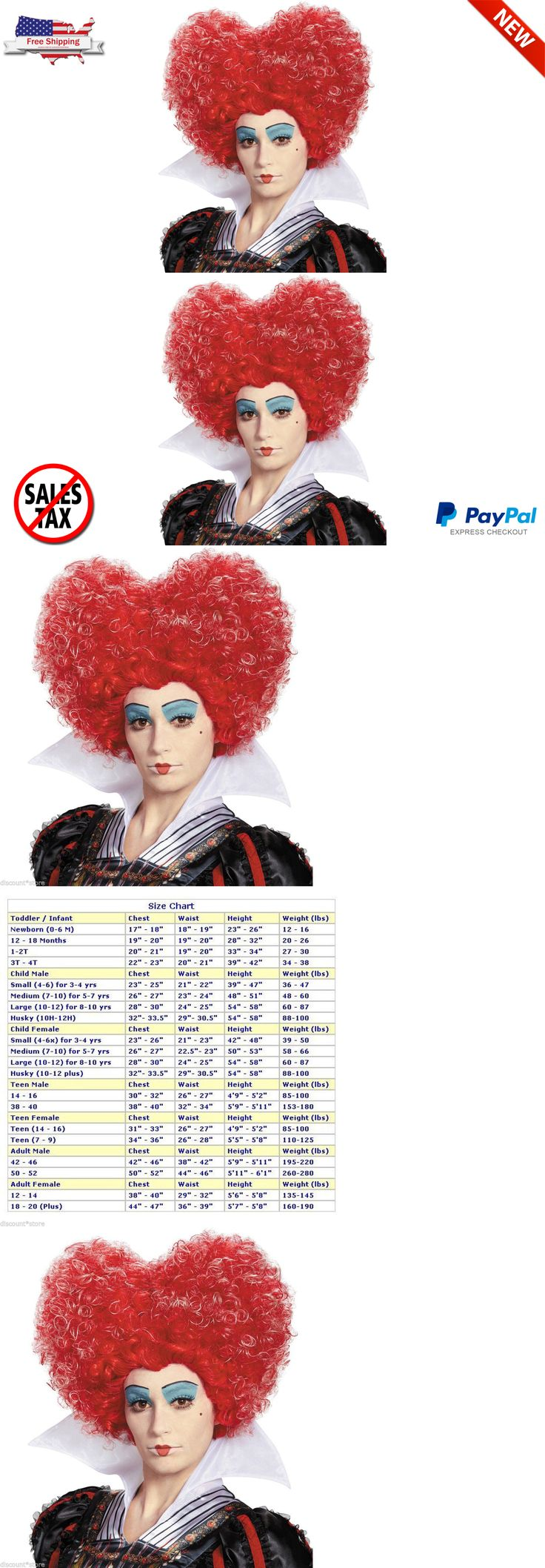 Wigs and Facial Hair 155350: Queen Of Hearts Wig Halloween Costume Accessory Hair Red Disney Alice Wonderland -> BUY IT NOW ONLY: $33.92 on eBay!