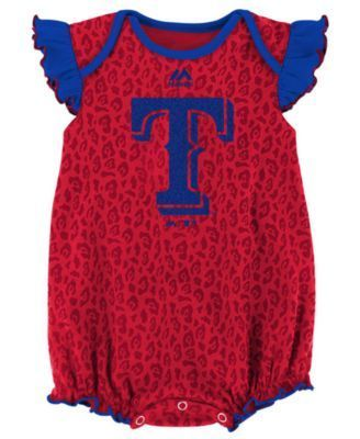 Majestic Texas Rangers Team Sparkle Creeper 2-Piece Set, Baby Girls (0-9 months) - RoyalBlue 6 months
