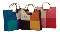 CANE HANDLE JUTE BAGS  Find more at: http://www.amanasia.com/product.php?cat=cane%20handle%20jute%20bags Or direct call: +91-9811365888