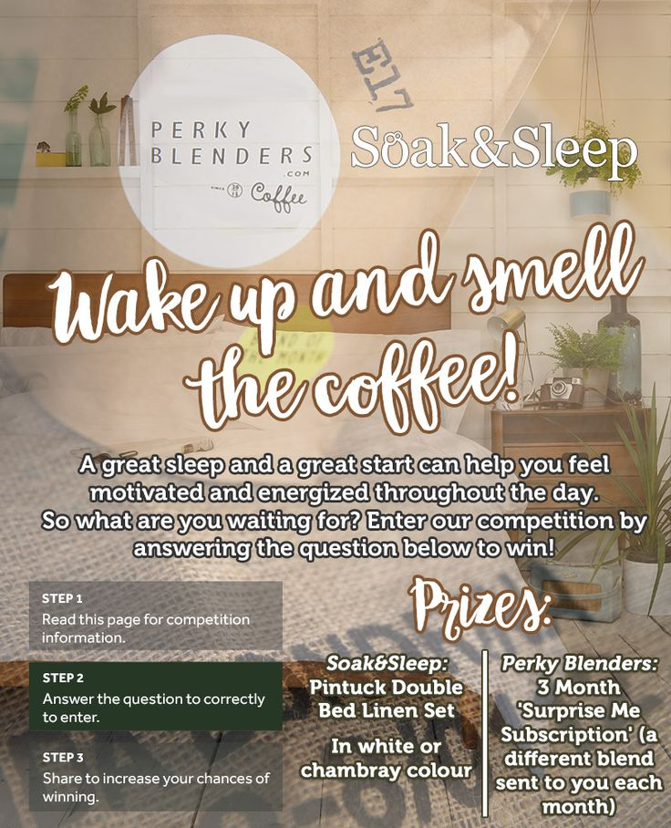 Win brand new Pintuck bed sheets and a 3 month coffee delivery subscription. Don't forget, you can enter too!
