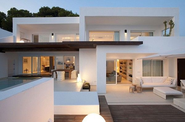 Stellar oceanic views from the expansive deck and terrace are not the only appealing traits of the Dupli Dos house located in breathtaking Ibiza, Spain.