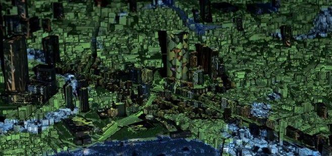 Projeto criado para celebrar os 10 anos do Roppongi Hills permite controlar projeção mapeada em miniatura de Tóquio