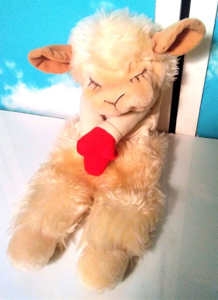 """Lamb Chop Shari Lewis Hand Puppet Vintage 1983 15"""" Long Very Clean #Trudy"""