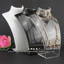 Jeden módní šperky Display Bust Akrylát přihrádka Mannequin šperky držák na náušnice Závěsné náhrdelník stojan držák Doll (Čína (pevninská část))
