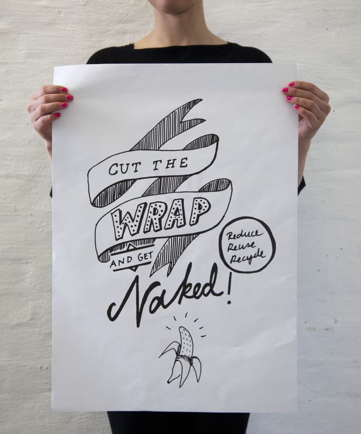 Poster design against over packaging. Pia Sissala, 2012