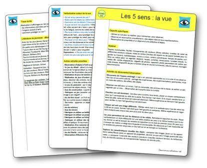 Les 5 sens : la vue en maternelle. Activités et jeux sur la vue