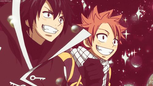 Their faces just scream the word FOOD! ;P Then they look confused which is adorable... Mostly for natsu.❤️