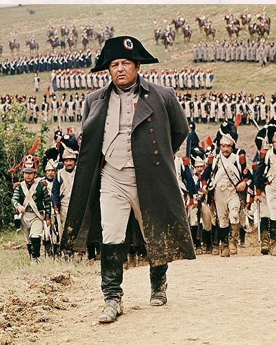 Napoleon Bonaparte - Rod Steiger in Waterloo (1970).