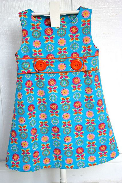 Belted A-line floral dress by iveyc95, via Flickr