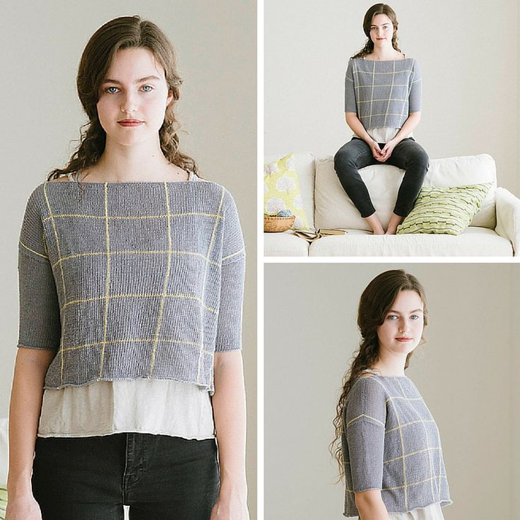 Knitting pattern Zara by Diana Walla for Quince&Co Sparrow 2016 collection