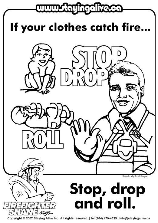childrens fire safety coloring pages - photo#22