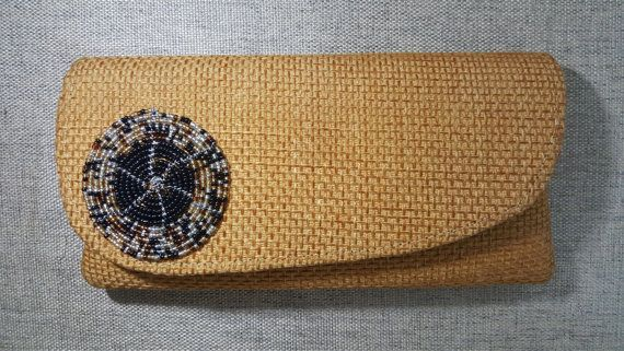 beaded Kikoi Purse Afrocentric contemporary Purse  by KaribuAfrica