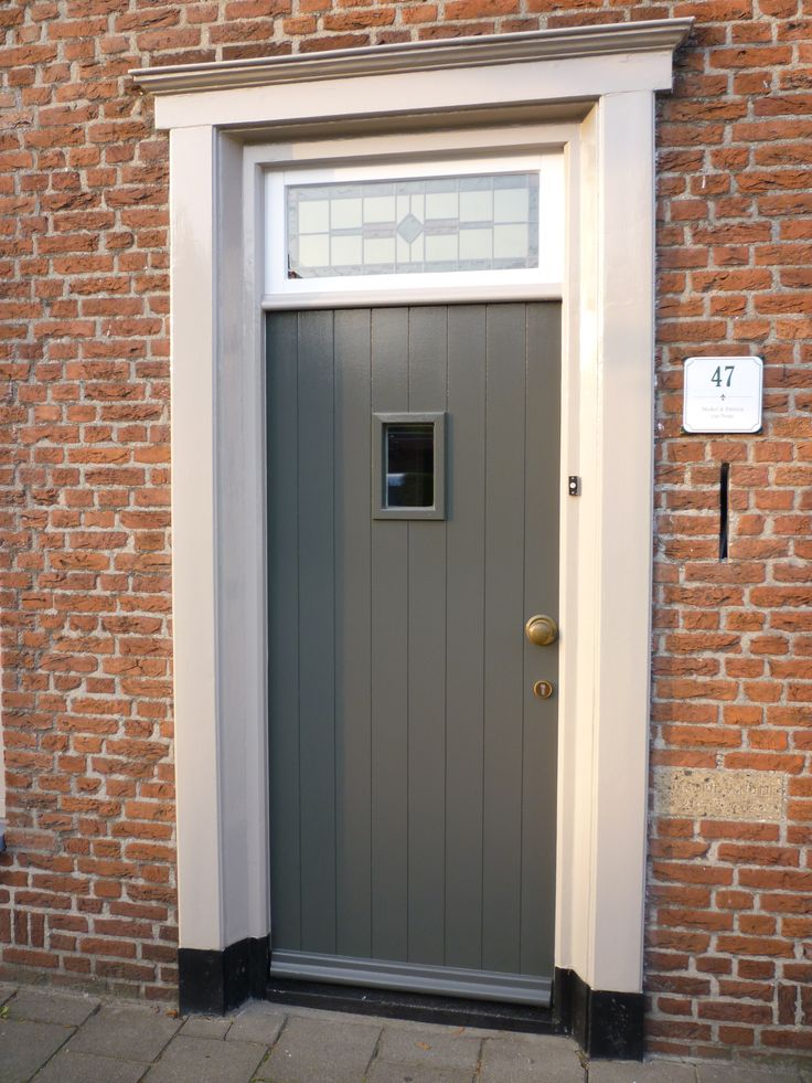 Afbeeldingsresultaat voor moderne voordeur met knop