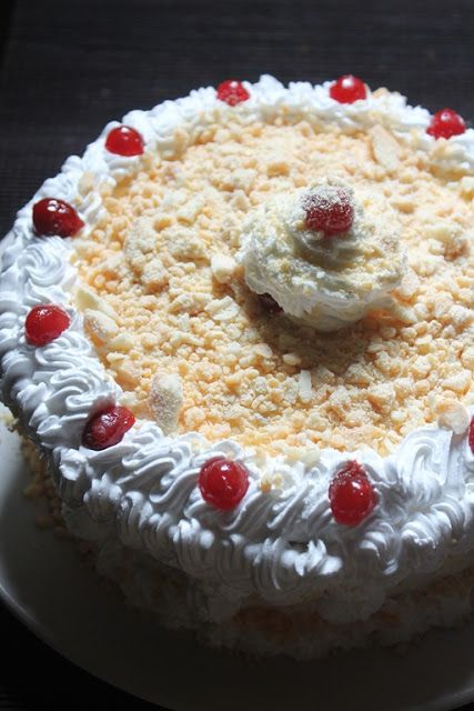 I have shared two version of black forest cake in my blog and i got so many request from many of my viewers to share white forest cake. ...