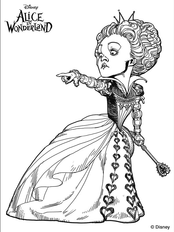 Alice In Wonderland Coloring Pages Tim Burton - - MTM