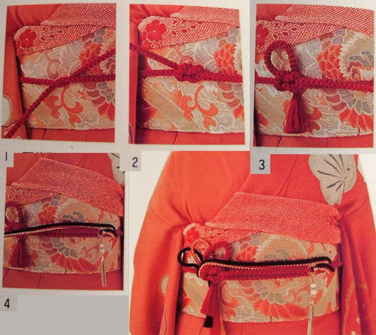 How to tie Obijime