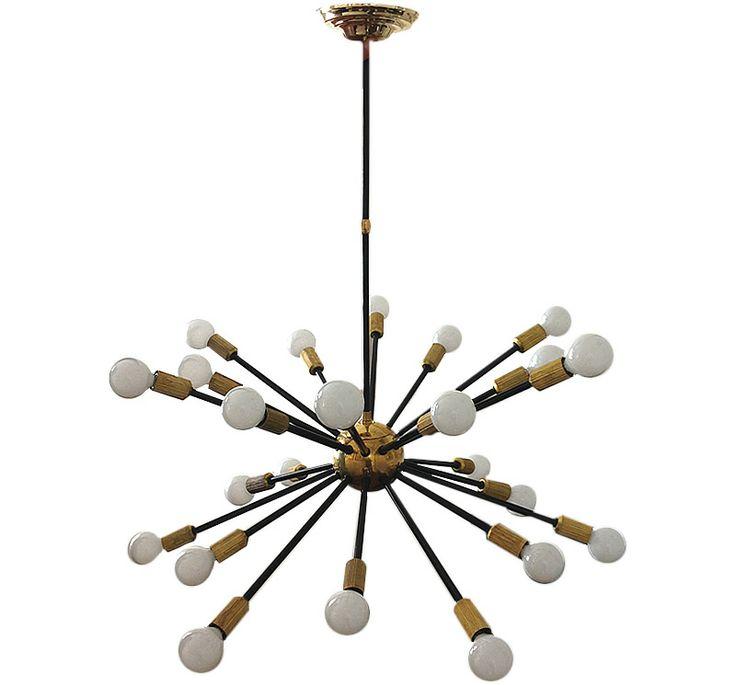 Lámpara de techo Sputnik. 24 luces. 1960 Sputnik lamp. 24 lights. 1960 www.dessvan.com #dessvan #bogota #sputnik #lamp #midcentury