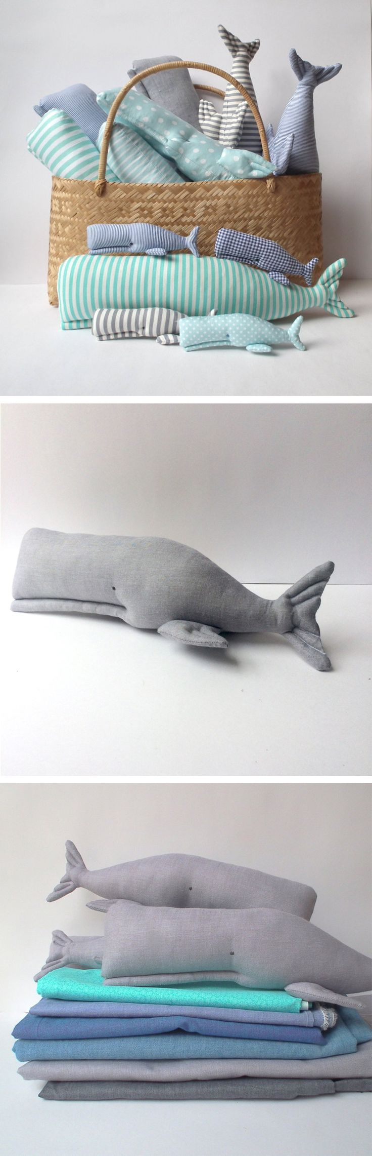Nautical Nursery Whale toy, stuffed whale, grey textile. Child friendly softie for a play room . Nice gift for baby shower, any gender