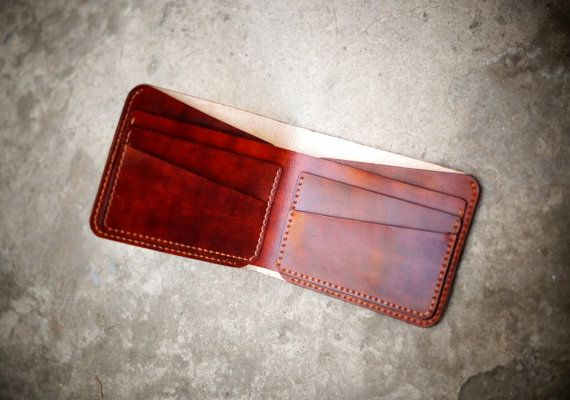 Minimalist wallet  Light Brown by GMleathercraft on Etsy