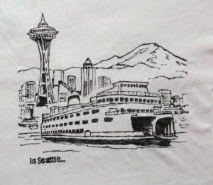 Koszulka ręcznie malowana - Seattle